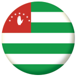 Abkhazia Country Flag 25mm Flat Back
